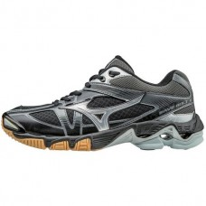 Mizuno Women's Wave Bolt 6  (Black/Silver)